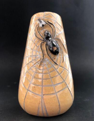 Antique Italian CAVALIERI Vase Hunting Spider Signed