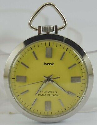 Vintage HMT 17Jewels Winding Pocket Watch For Unisex Use Working Good D-272-8