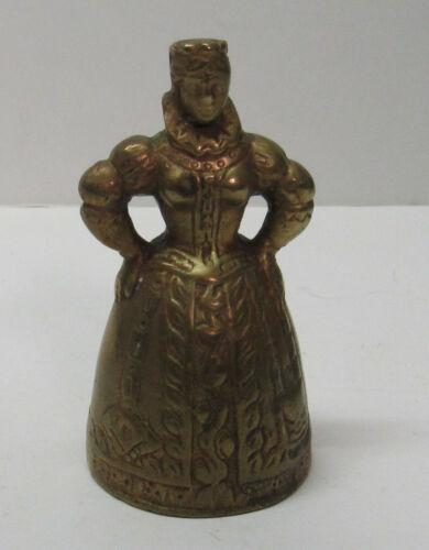 Brass Woman Bell Detailed Corset Hoop Skirt Busty Vintage