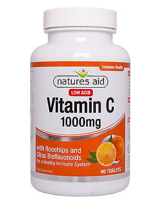 Vitamin C 1000mg (Low Acid) with Rosehips & Citrus Bioflavonoids x 90 Vegan tabs