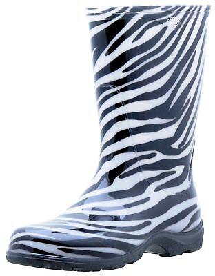 Sloggers Size 7 Zebra Print Womens Tall Garden Boots
