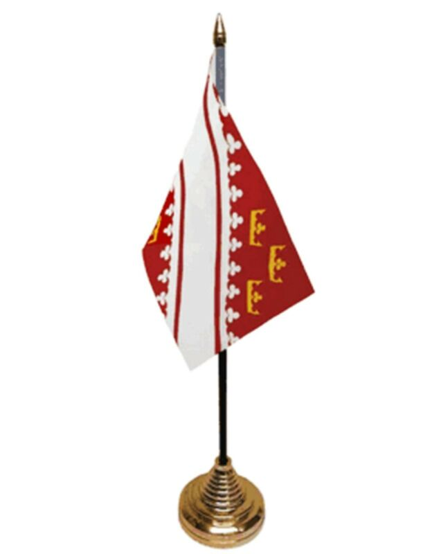 "ALSACE DESKTOP TABLE FLAG 6""X4"" 15cm x 10cm flags FRANCE STRASBOURG FRENCH"