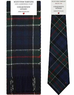 Colquhoun Modern Tartan Lambswool Scarf & Tie Gift Set