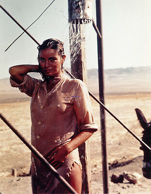 100 RIFLES RAQUEL WELCH SEXY SHOWER PHOTO