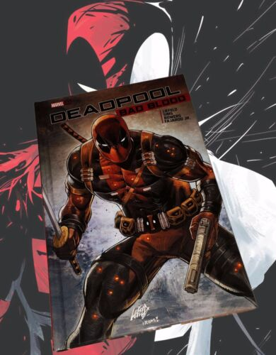 Deadpool Bad Blood Variant Hardcover Book Rob Liefeld Autographed W/ Sketch NEW