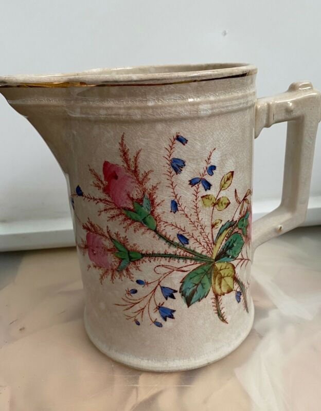 Knowles Taylor & Knowles PITCHER Vintage Ironstone Floral