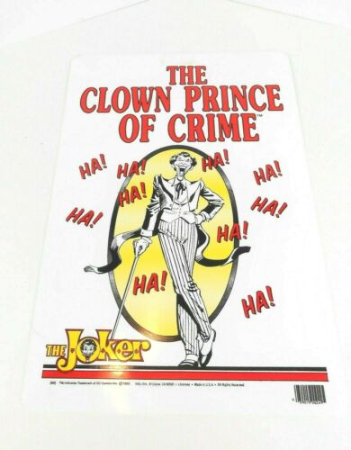 "1982 DC Comics The Joker Clown Prince Of Crime Sign Batman Villain 11""x17.5"" VG+"