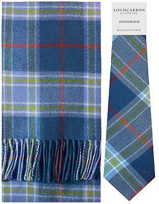 Musselburgh Tartan Brushwool Scarf & Tie Gift Set