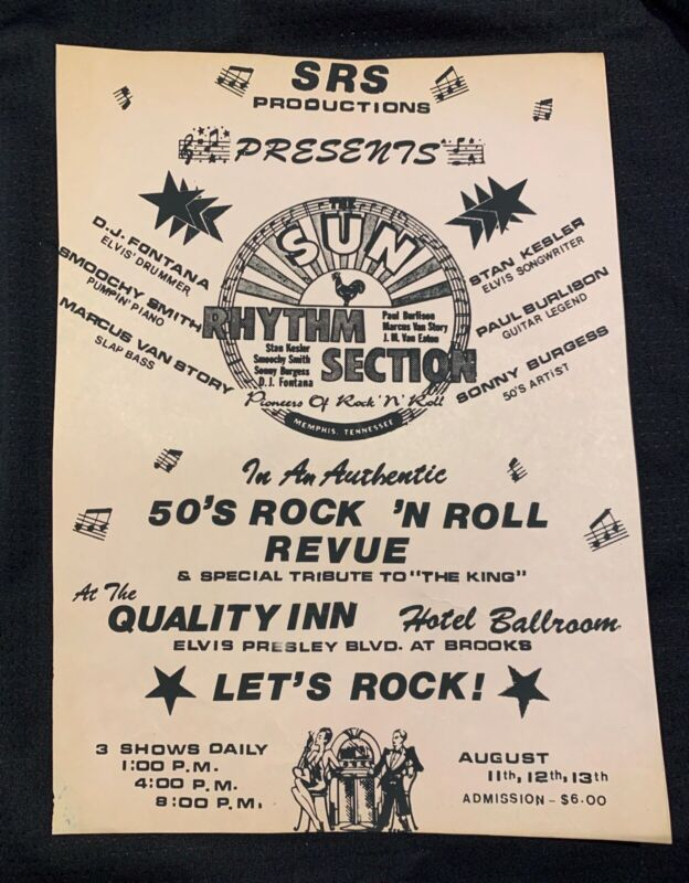 SUN Rhythm Section Flyer and Candid Photos / Elvis / Direct From Memphis