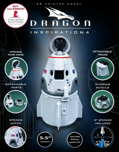 DRAGON 2 Inspiration 4 | Plastic Model | SpaceX | NASA | Capsule | Spacecraft