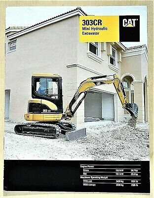 Original 2003 Caterpillar 303cr Excavator Brochure 8 Pages 03cr