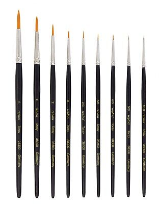 Acryl Nail Art (Toray Kunsthaar Pinsel Grösse 10/0 bis 6 für Aquarellfarbe, Acrylfarbe, Nail-Art)