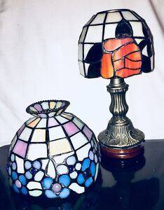 Stained Glass Table Lamp & Extra Lamp Shade