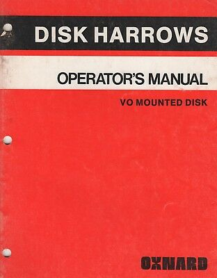 1981 Allis-chalmers Disk Harrows Vo Mounted Disk Operators Manual 412216 288