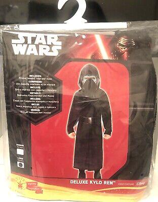 Kylo Ren Costume Kids Disney Star Wars Fancy Dress Outfit Licensed  7-8 Years