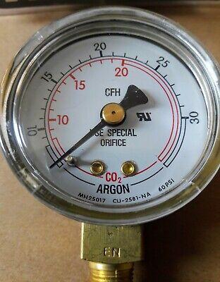 Victor Steel Pressure Gauge 14240409 50mm X 30scfh Argon - Co2 1424-0409