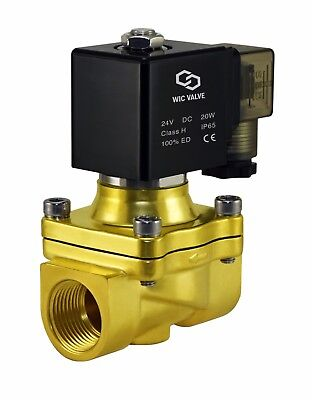 Electric Water Zero Differential Solenoid Valve Normally Closed 34 Inch 24v Dc