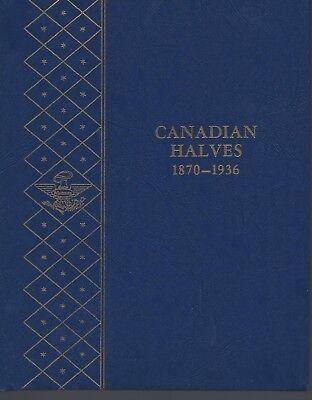Canadian Halves 1870-1936 Whitman Album  NOS
