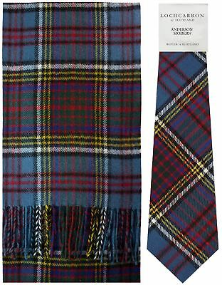 Anderson Modern Tartan Brushwool Scarf & Tie Gift Set