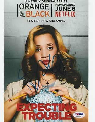 Dascha Polanco Signed 8X10 Photo Orange Is The New Black Autograph Psa Dna