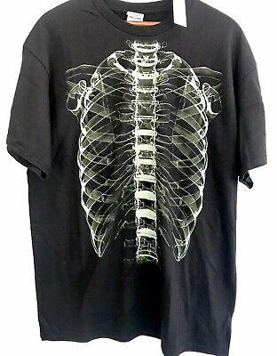 Western University Halloween (Men's Delta Pro Weight Black Green X-ray Skeleton Graphic Short Sleeve)