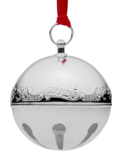 Wallace Annual Silver Plate Sleigh Bell Ornament 2020 NIB 50th Anniversary