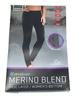 NWT WOMEN'S PARADOX MERINO WOOL BLEND THERMAL LONG UNDERWEAR PANTS SIZE M