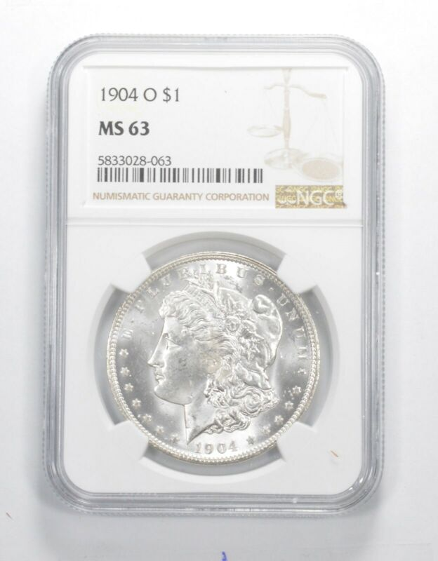 MS-63 GRADED - 1904-O Morgan Silver Dollar- NGC *980