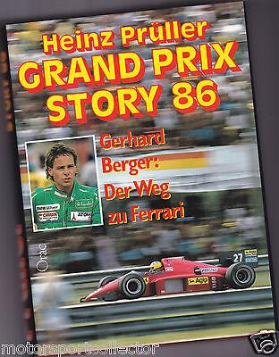 Formel 1 Jahrbuch >> Grand Prix Story 86 << Heinz Prüller 1986, G Berger Ferrari