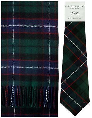 Mitchell Modern Tartan Brushwool Scarf & Tie Gift Set