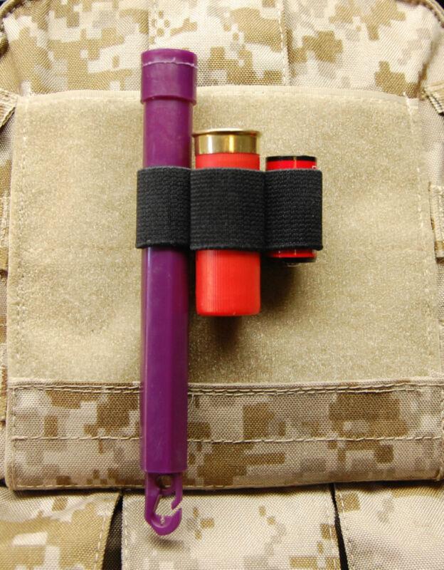 3-Cell Chemlight Shotgun Shell CR123 Battery Holder Black SWAT Cyalume