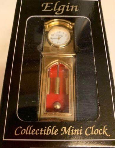 ELGIN MINI GRANDFATHER CLOCK, COLLECTIBLE IN ORIGINAL BOX 80