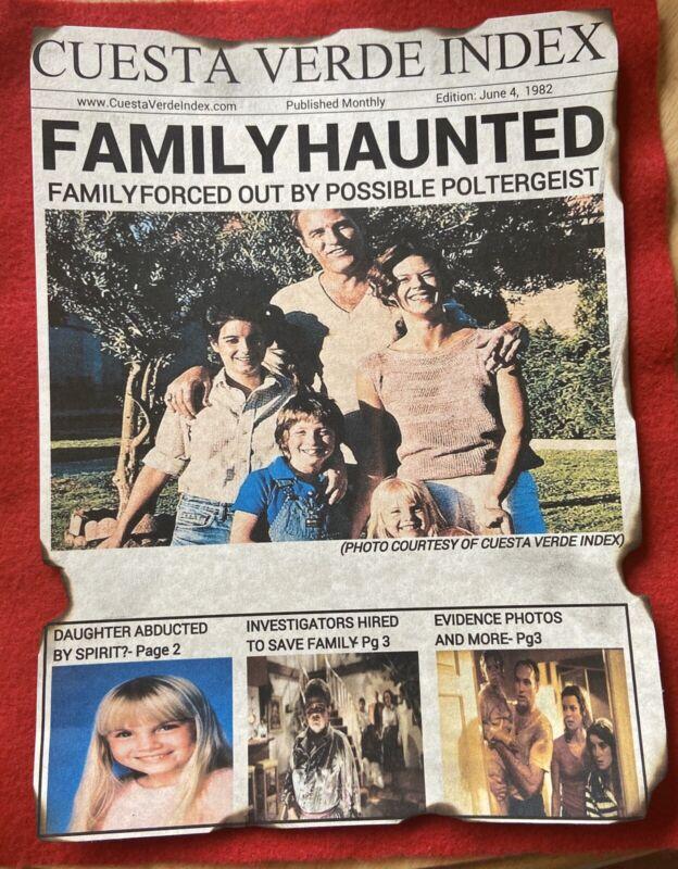 Poltergeist Movie 1982 News Print Horror