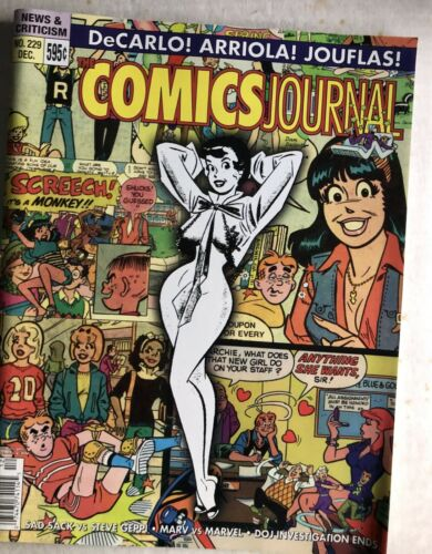 Fanzine COMICS JOURNAL #229 - DeCarlo and Archie