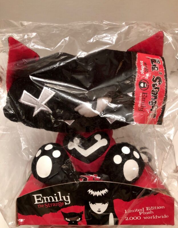 Emily the Strange Teeny Tawny Kitty Plush NEW in plastic! RARE!