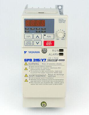 Yaskawa Drive Cimr-v7am20p7 .75kw 5 Amp 200-230vac 3 Phase 1 Hp New