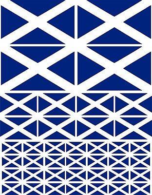 SCOTTISH FLAG / SCOTLAND ECOSSE SALTIRE VINYL STICKERS - MULTIPACK VARIOUS SIZES