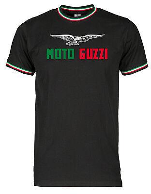 Altes Shirt (T-Shirt Moto Guzzi alt Tricolore - alle Größen S bis 3XL - Siebdruck Waschecht)