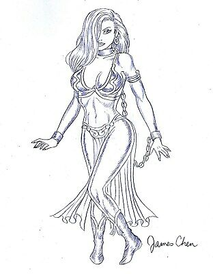 JESSICA RABBIT IN SLAVE PRINCESS LEIA STAR WARS OUTFIT ORIGINAL COMIC - Jessica Rabbit Outfit