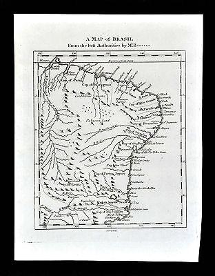 1778 James Cary Map - Brazil Captancies Rio de Janeiro Sao Paulo Salvador Olinda