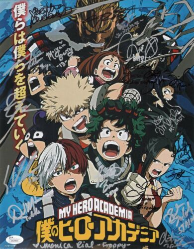 "MY HERO ACADEMIA Cast x19 Authentic Signed ""Justin Briner"" 11x14 Photo JSA COA"