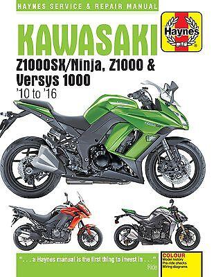 6377 Haynes Kawasaki Z1000, Z1000SX & Versys (2010 to 2016) Workshop Manual