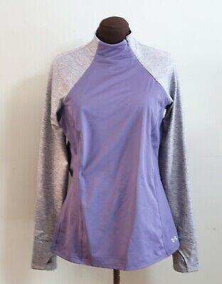 UNDER ARMOUR Cold Gear Women's Storm Heather Purple Half Zip Shirt Top XLarge XL
