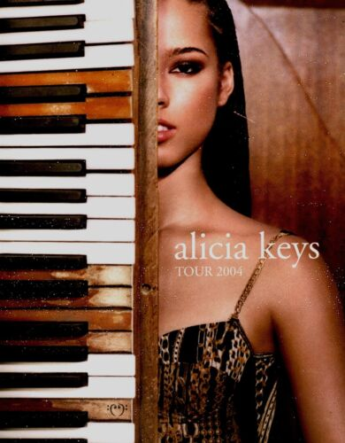 ALICIA KEYS 2004 DIARY U.S. TOUR CONCERT PROGRAM BOOK BOOKLET / NEAR MINT 2 MINT