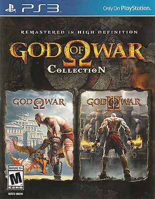 God of War Collection PS3 Remastered HD Sony PlayStation 3 Brand New Sealed
