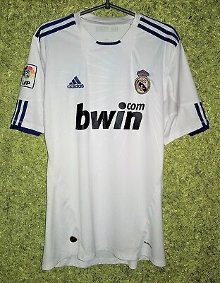 c9752a609 REAL MADRID 2010 2011 HOME ADIDAS FOOTBALL JERSEY SHIRT SOCCER SIZE L
