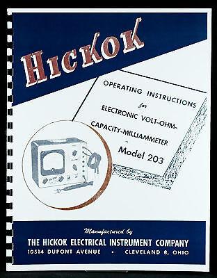 Hickok 203 Volt Ohm Capacity Multimeter Manual
