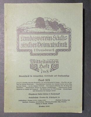 LANDESVEREIN SÄCHSISCHER HEIMATSCHUTZ DRESDEN Mitteilungen Heft 7-8  1930