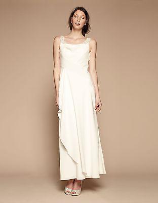-90% LONDON Monsoon BLAKE weißes Brautkleid ivory/elfenbein/weiß UK 10 NEU Gr.38