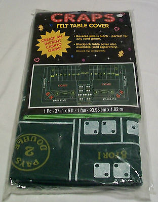Craps Table Cover (Amscan Craps Casino Party Felt Table Cover, 37